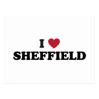 Cartão Postal Mim coração Sheffield Grâ Bretanha