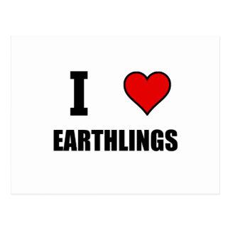 Cartão Postal Mim Earthlings do coração