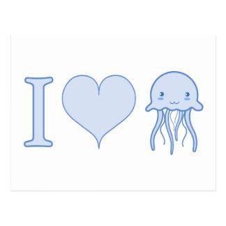 Cartão Postal Mim medusa do coração