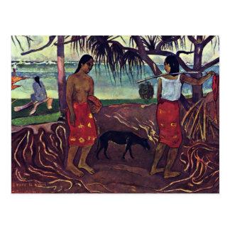 Cartão Postal Mim Raro Te Oviri por Gauguin Paul (a melhor
