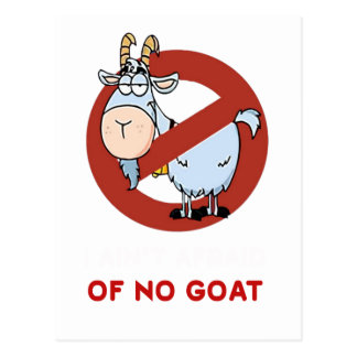 Cartão Postal Mim tia nenhuma cabra engraçada