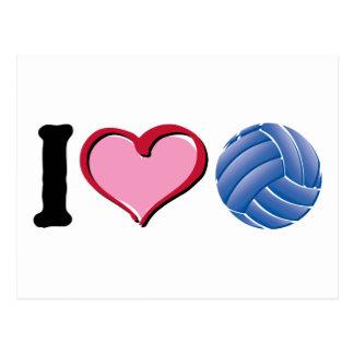 Cartão Postal Mim voleibol do coração