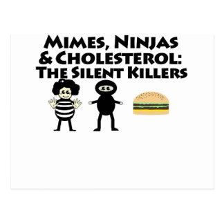 Cartão Postal Mimes, Nijas & colesterol