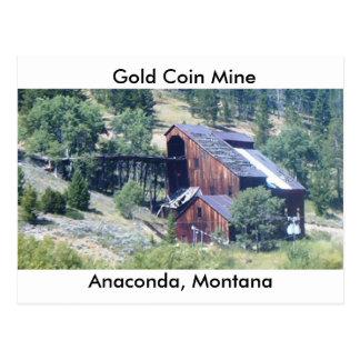 Cartão Postal Mina da moeda de ouro