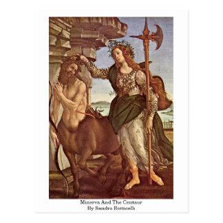 Cartão Postal Minerva e o centauro por Sandro Botticelli
