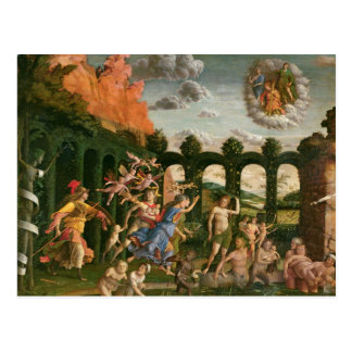 Cartão Postal Minerva que persegue os vícios