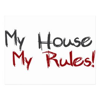 Cartão Postal Minha casa minhas regras
