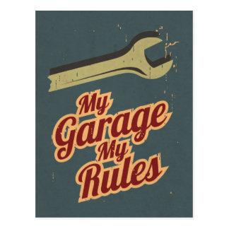Cartão Postal Minha garagem minhas regras