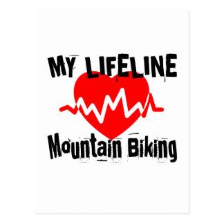 Cartão Postal Minha linha de vida design Biking dos esportes da