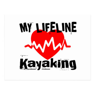 Cartão Postal Minha linha de vida design Kayaking dos esportes