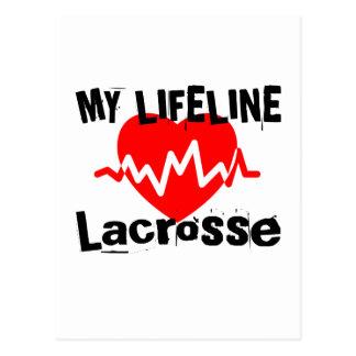 Cartão Postal Minha linha de vida Lacrosse ostenta o design