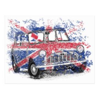 Cartão Postal Mini britânico clássico