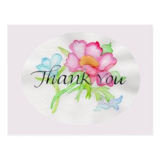 Cartão Postal Mini buquê floral TY do rosa selvagem cor-de-rosa