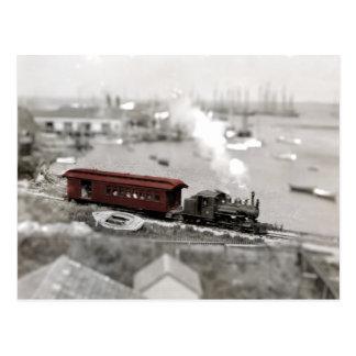 Cartão Postal Miniatura da estrada de ferro de Nantucket