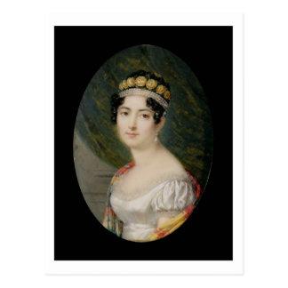 Cartão Postal Miniatura do retrato da imperatriz Josephine