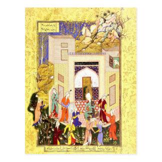 Cartão Postal Miniatura persa: Donzelas de Yusuf e de Zulaykha