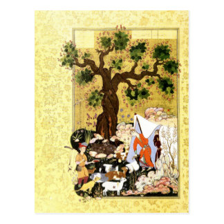 Cartão Postal Miniatura persa: Majnun no disfarce