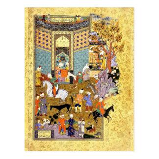 Cartão Postal Miniatura persa: Não venda meu asno maravilhoso!