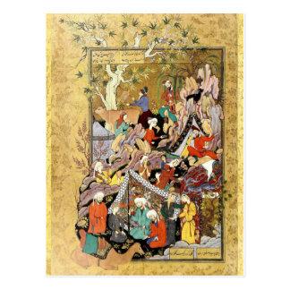 Cartão Postal Miniatura persa: Primeiros relances Layla de Qays