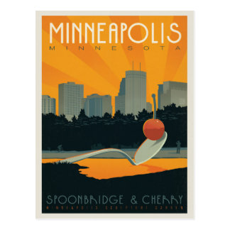Cartão Postal Minneapolis, manganês