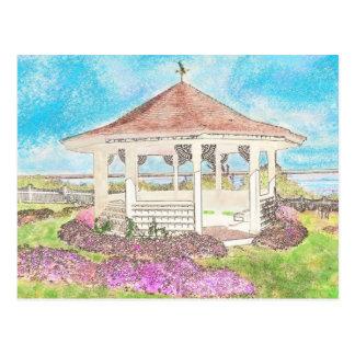 Cartão Postal Miradouro branco pintado em Cape Cod