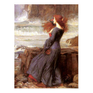 Cartão Postal Miranda a tempestade por John William Waterhouse