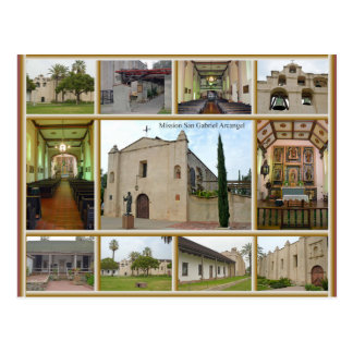 Cartão Postal Missão San Gabriel