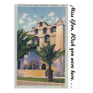 Cartão Postal Missão San Gabriel, Califórnia