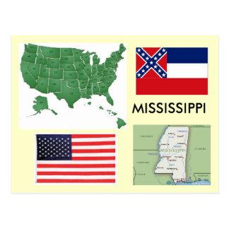 Cartão Postal Mississippi EUA