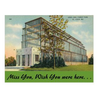 Cartão Postal Missouri, caixa de jóia, Forest Park