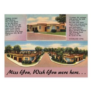 Cartão Postal Missouri, corte coral, St Louis
