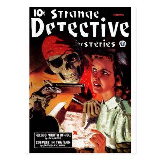 Cartão Postal Mistérios estranhos do detetive