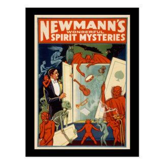 Cartão Postal Mistérios maravilhosos do espírito de Newmann