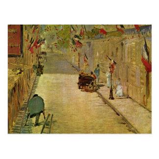 Cartão Postal Mit Fahnen - Edouard Manet de Mosnier da rua
