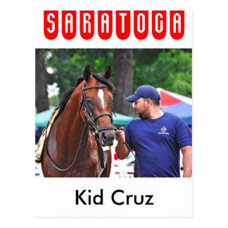 Cartão Postal Miúdo Cruz em Saratoga