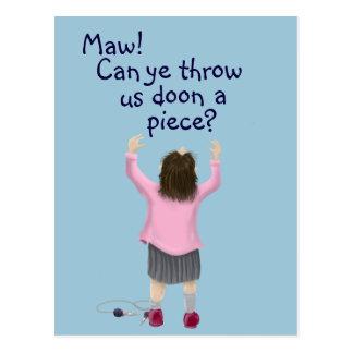 Cartão Postal Miúdo do ` da parte escocesa jeely'