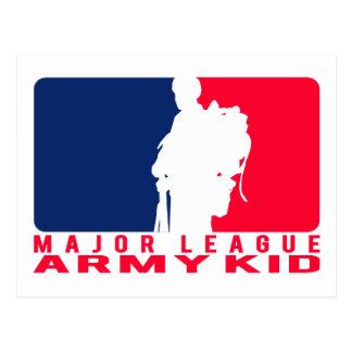 Cartão Postal Miúdo do exército da liga principal