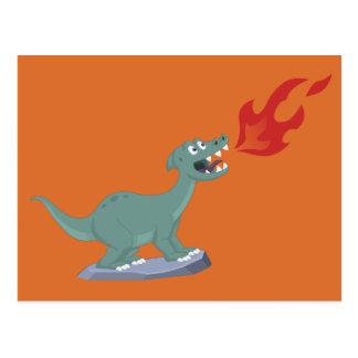 Cartão Postal Miúdos queRespiram a arte do dinossauro por Jeff
