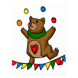 Cartão Postal Mnanipulação do urso