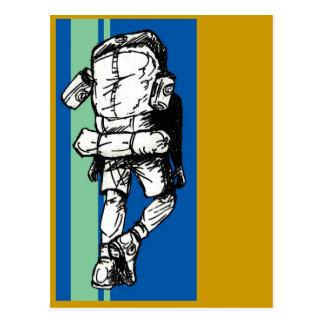 Cartão Postal Mochileiro (cara) - azul esverdeado