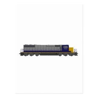 Cartão Postal modelo 3D: Motor do trem: Estrada de ferro:
