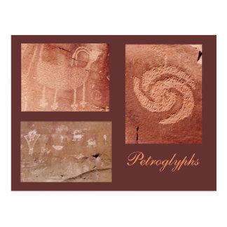 Cartão Postal Modelo antigo da arte da rocha