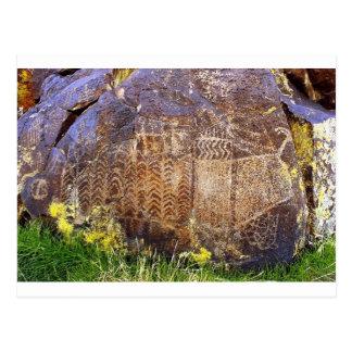 Cartão Postal Modelo arcaico da arte da rocha