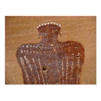 Cartão Postal Modelo da arte da rocha