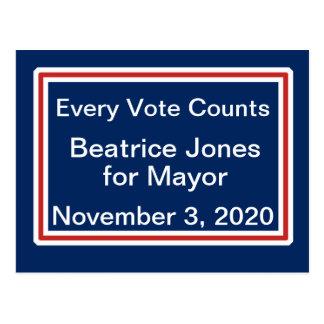 Cartão Postal Modelo da divisa do candidato da noite da eleição
