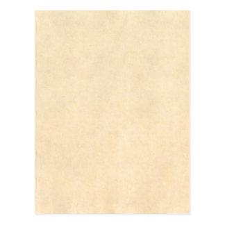 Cartão Postal Modelo de couro do pergaminho de Tan do Buckskin