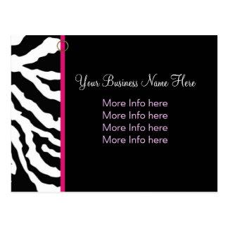 Cartão Postal Modelo do cartão:: Impressão corajoso da zebra