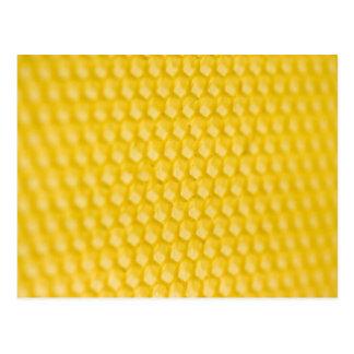 Cartão Postal Modelo do favo de mel no ângulo