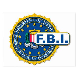 Cartão Postal Modelo do selo do FBI