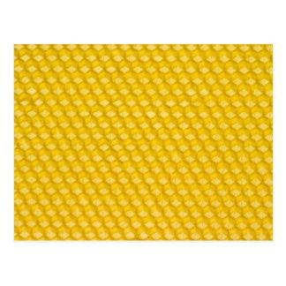 Cartão Postal Modelo dos presentes do fundo do favo de mel